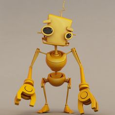 Yellow Robot (animated) - $35