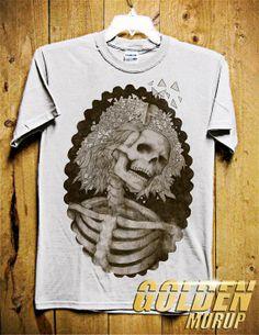SKULL CAMEO Brown Men TShirt  Skull LadiesTShirt  by GoldenMurup, $18.98
