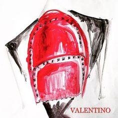 ❤️ @maisonvalentino #rucksack #red #valentino #illustration #fashionillustration #fastsketch #sketch #vogue #style #design #minimal #detail #draw #paint