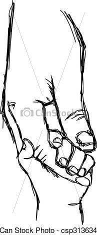 Mother Child Art, Holding Hands, Mom Child Hands Print ...