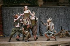 Come not near our fairy queen: Titania (Michelle Terry) frolics with her band of spirits