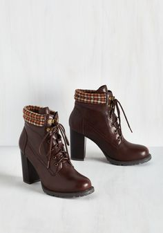 Street Style Fashion Show Bootie in Mahogany, #ModCloth
