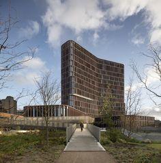 The Maersk Tower,© Adam Moerk Innovative Architecture, Architecture Board, Contemporary Architecture, Amazing Architecture, Architecture Details, High Building, Building Plans, Building Design, Metal Facade
