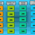 This is a jeopardy game in PowerPoint which would work on a SMARTboard or students could play on individual computers.  The game reviews key adject...