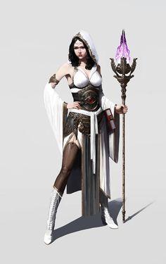 Female human wizard
