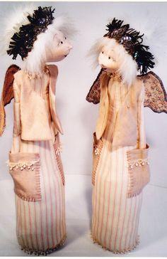 Dot the Pocket Angel - pretty cloth doll PATTERN - Jill Maas. $14,95, via Etsy.