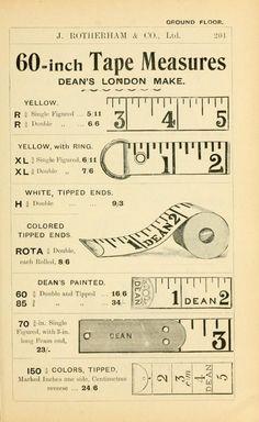 Vintage general price list for tape measures. Junk Journal, Journal Cards, Papel Vintage, Vintage Paper, Vintage Room, Vintage Labels, Vintage Ephemera, Printable Vintage, Etiquette Vintage