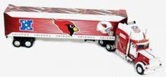 2004 Upper Deck NFL Tractor Trailers - Cardinals. Each 1:80 Scale Replica Upper Deck Peterbilt Tractor-Trailer Is Approximately 9 Inches Long And 2 Inches High And Carries The Bold Colors And Logos of Your Favorite MLB Team.  2004 Upper Deck NFL Tractor Trailers - CardinalsSport Theme: FootballLeague: NFLTeam: Arizona Cardinals