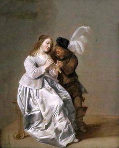 Dirck Hals. 1591-1656. Haarlem. La leçon de musique. The Music Lesson. 1646. Hannover. Landesmuseum.