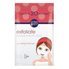 Miss Spa® Facial Sheet Mask Exfoliate Trial Size - 1 Ct