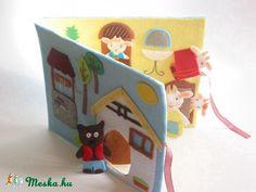 A farkas és a hét kecskegida- készségfejlesztő-kreatív ujjbáb készlet mini bábszínházzal, Baba-mama-gyerek, Játék, Báb, Készségfejlesztő játék, Meska