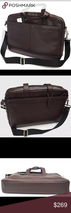 COACH Hamilton Leather Laptop Bag Oxblood NWT Men's COACH Hamilton Leather Laptop Bag Oxblood Retails for $450; New With Tags; Model F54801 - Beautiful addition to any collection. Coach Bags Briefcases