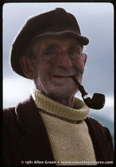 Old Irish Man With A Pipe 1981 (Practice)