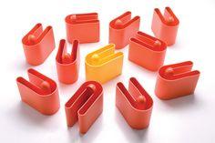 BUK, magazine rack in rotomoulded polyethylene! Design by Rodolfo Bonetto, 1972.