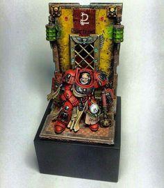 Blood angel space Marine #40k #wh40k #warhammer40k #40000 #gamesworkshop #wellofeternity #miniatures #wargaming #hobby