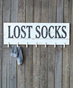 Lost Socks Wall Plaque #zulily *love it