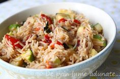 Rice and zucchini salad #vegan #vegetarian (try with brown basmati rice)