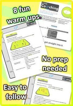 8 FREE PE Sport LESSON Warm Up Games - Grades 3-6