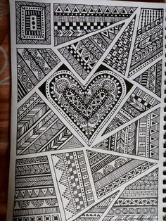 Ideas For Drawing Ideas Sharpie Doodles Tangle Patterns – Coloring Mandalas Doodle Art Drawing, Zentangle Drawings, Mandala Drawing, Doodles Zentangles, Pencil Art Drawings, Drawing Ideas, Drawings With Sharpies, Mandala Doodle, Tangle Doodle