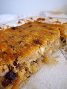 AIP Breakfast Casserole  - applesauce, spaghetti squash, raisins, plantains.  This reminds me of Noodle Kugel which was made with flat egg noodles, egg, Farmer cheese.  Great AIP/Paleo/gluten free revision of an old yummy recipe!!