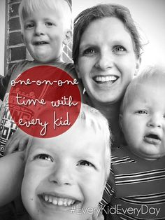 A challenge to spend one on one time with every kid, every day. #EveryKidEveryDay #30DayMom
