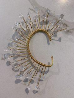 Ear cuff, no piercing, ear hug, bridal accessories, ear wrap jewelry, bridal shower gift, bridal ear