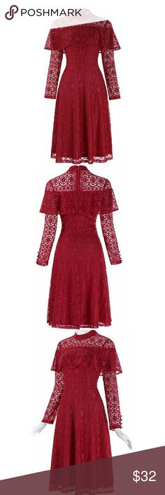 Valentines dress Valentines day red lace dress decorated with fixed satin ribbon,Long Sleeve with a functional button.  *please refer to size chart (last pic) for sizing Chat Noir Dresses