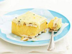 Photo of Vanilla Custard Slice Custard Slice, Custard Tart, Vanilla Custard, No Bake Slices, Delicious Desserts, Dessert Recipes, Dessert Ideas, Strawberry Puree, Golden Syrup