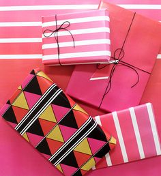 4 Free Printable Gift Wrapping Paper Designs for Valentine's Day // The Craftables