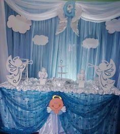 Bautizo Baptism Centerpieces, Baptism Decorations, Girl Baby Shower Decorations, Boy Decor, Party Centerpieces, Baby Shower Themes, Baptism Party, Baby Baptism, Christening