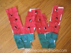 W is for watermelo 590x442 11 Crafts for Letter W