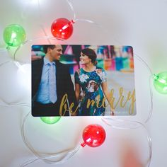 Spread a little holiday cheer with your loved ones this year with a photo Holiday greeting card from Minted.