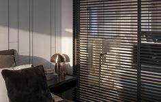Rimadesio Stripe Schuifdeuren Sliding Door Panels, Stripes Design, Blinds, Curtains, Studio, Modern Barn, Barn Doors, House, Home Decor