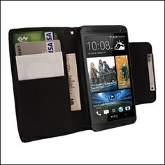 HTC One Wallet Case - Black