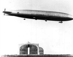 Shenandoah in flight over Hangar No. 1