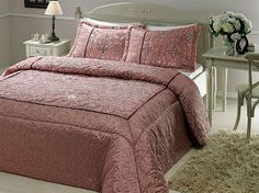 Evon Pembe by Taç Comforters, Blanket, Bed, Creature Comforts, Quilts, Rug, Beds, Blankets, Lap Quilts