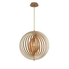 Eurofase Abruzzo Collection 1-Light Medium Wood Pendant