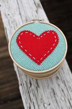 With an embroidered or felt letter in the middle of the heart as a monogram, these would make beautiful Valentines