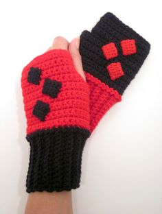 Harley Quinn Inspired Power Wristees. Wristwarmers. by Nerdifacts