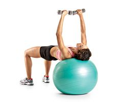 25 Swiss Ball Exercises that Tone Your Whole Body//Swiss Ball Dumbbell Fly c Beth Bischoff