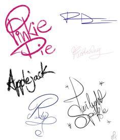 Pony Signatures by FluttershytheKind.deviantart.com on @DeviantArt