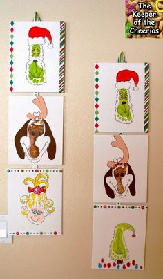 Grinch Footprints Whoville Footprints - The Keeper of the Cheerios Crafts For Kids To Make, Christmas Crafts For Kids, Diy Christmas Ornaments, Holiday Crafts, Kids Crafts, Childrens Christmas, Preschool Christmas, Christmas Projects, Holiday Fun