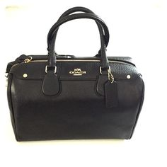 """Brand New Coach New York Leather Bennett Satchel Midnight blue leather Bennett satchel. Coach New York. One outside pocket, one inside zip pocket and two additional inside pockets. Removable shoulder strap- drops 20""""-23.5"""". Coach Bags Satchels"""