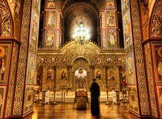 Greek church interior- the gold standard.