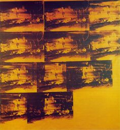 Andy Warhol  Orange Car Crash  Silk-screen print on canvas  1964  Galleria Civica d'Atre Moderna, Turin
