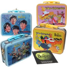 "Beatles-ify your Christmas tree old-school style with this set of two mini lunchbox - get it, ""old-SCHOOL""? - Christmas ornaments! Available at http://www.ebay.com/itm/Beatles-Collectors-Memorabilia-Minature-Lunchbox-Ornaments-Set-2-lunch-box-/151104708128?pt=LH_DefaultDomain_0&hash=item232e8ade20"