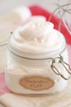 Homemade Marshmallow Fluff- Now you can make this deliciousness at home! And let's face it, the fluff is the best part of the marshmallow