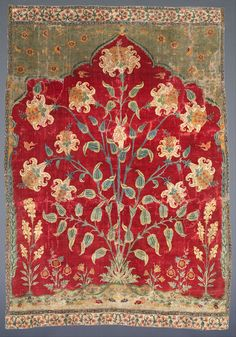 Fragment of a Saf carpet (1600-1650) The Museum of Islamic Art, Qatar Google Art Project: Home via Wikimedia