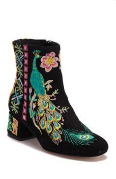 69164c5d27 Johnny Was - Retro Peacock Black Suede Embroidered Boot | Cipő, szandál,  bakancs, csizma | Black suede, Boots és Johnny was