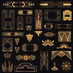 Art Deco Vintage Frames and Design Elements – in vector Art Deco Vintage Rahmen und Design-Elemente Vektorgrafiken Illustration Art Deco Illustration, Illustrations, Estilo Art Deco, Motif Art Deco, Art Deco Design, Art Deco Borders, Art Deco Art, Art Deco Logo, Art Deco Colors